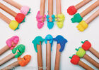 IWAKO Japanese Novelty Eraser Rubber- IWAKO Pencil Toppers in 6 Variations