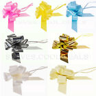 50MM LARGE FLORIST FAST PULL BOWS WEDDING CAR PARTY RIBBON GIFT WRAP PEW ENDS