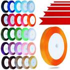 22 METRES OF SATIN RIBBON 6,10,15,25,38MM IN MULTIPLE COLOURS SOLD IN ROLLS