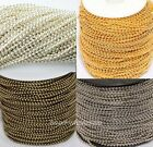 5m/100m Silver/Golden/Bronze Tone Metal Ball Findings Chain For Necklace Making