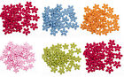 300PCs/15mm 2 Holes New Wood Sewing Buttons Scrapbooking Flower Various Colors