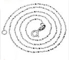 NEW Pure Solid 925 Sterling Silver Starry Chain Necklace