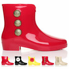 NEW LADIES WOMENS FUNKY RETRO JELLIE WELLINGTON WELLIES ANKLE BOOTS SHOES SIZE