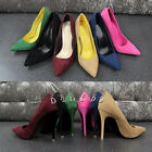 stone New Ladies High Stiletto Heel Pointed Toe Court Evening Party Shoes