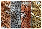 Leopard print chiffon dress fabric, available in 4 colours @ £3.75/m 1.47m wide