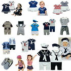 Baby Boy Clothes, girl Dress, Outfits, Clothing - Sailor Marine Anchor Romper