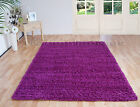 SMALL - LARGE FUCHSIA DEEP PINK THICK NON SHEDDING SHAGGY LUXURY TWO TONE RUG