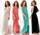 New Women's Sleeveless Summer Bohemia Chiffon Long Prom Evening Party Warp Dress