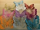 New Gorgeous18cm Glitter Jewelled Clip On Butterfly Weddings Home Decorative