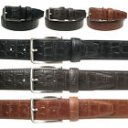 Vitali Croc Pattern Mens Italian Leather Trouser Suit Belt Made in Italy 3912