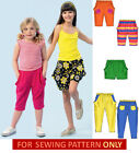 SEWING PATTERN! MAKES GIRLS SHORTS~PANTS! SIZE 2~8! SUMMER PLAY CLOTHES~EASY!