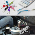 3.5mm Male M/M Flat Stereo Audio Jack AUX Cable Cord for PC iPhone iPod MP3 Car