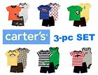 NEW Carter's Boy's Oh-So-Fun 3pc Set 2-in-1 Outfits 6M 9M 12M 18M 24M
