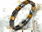Men's Women's Tiger Eye Magnetic Healing Bracelet Anklet Circulation 2 Row AAA+