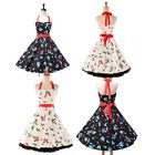 GK VINTAGE 1950's ROCKABILLY COTTON DRESS PINUP PROM PARTY SWING DRESS SIZE S~XL