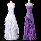Elegant Stock Spaghetti Straps Ball Gown Evening Prom Party Dress 8 Size UK 6~20