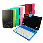 """PU leather Keyboard case for 7"""" Tablet HYPERTAB PC"""
