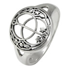 Sterling Silver Chalice Well Ring Symbol of Avalon sz 4-15 Wicca Pagan Jewelry