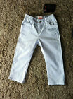 Designer Levi Strauss baby girls white denim jeans BNWT RRP £39 12 18 24 mths