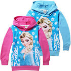 Frozen Elsa Princess Snowflak Costume Kids Gifts Girls Hoodies Baby Coat 2-8Yrs