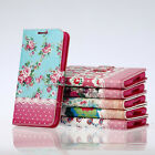 Leather Retro Flower Printed  Wallet Case Cover Fr Samsung Galaxy S5 I9600