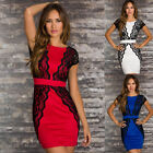 Lace Crochet Bodycon Womens Cocktail Party Prom Wedding Bridesmaid Pencil Dress