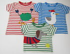 ex-BODEN CUTE SEASIDE APPLIQUE S/S COTTON TEE SHIRT CRAB-DOG-SEAGULL  BNWOT