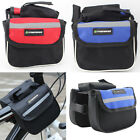 Cycling Bike Bicycle Doube-side Frame Pannier Pouch Phone Case Front Tube Bag UK