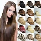 "16""18""20""22"" 7PCS Clip In Remy Human Hair Extensions All Color UK Full Head"