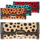 Ladies Large Designer Quilted Leather Style Spotty Dot Purse Wallet New Boxed