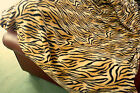 THROW BROWN TIGER PRINT NEW Fleece Soft Warm Snug Sofa blanket washable 3 sizes