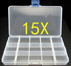 1pc(15Cells) Slot Adjustable Transparent Jewelry Marking Tool Box New