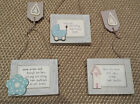 East of India Sentiment Chic Signs New Baby Boy New Home Vintage Shabby Sign