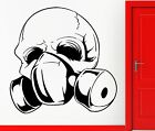 Wall Stickers Vinyl Decal Skull In Gas Mask Apocalypse Gothic Decor (z2314)