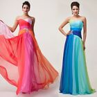 ❤Bright-colour Elegant Long Evening Party Formal Dress Bridesmaid Club Prom Gown