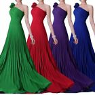 One Shoulder Chiffon Bridesmaid Formal Gown Cocktail Evening Prom Party Dress