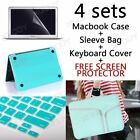 For MacBook 11/13 Air Case Rubberized Hard Case+Sleeve bag+Keyboard Cover+a Gift