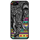 Cover for Iphone 5 5S Elephant aztec colourful tribal art VTG pattern phone case