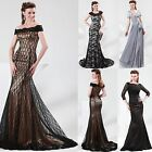 Mermaid Lace Formal Party Prom Dresses Wedding Bridal Gown Evening Long Dress GK