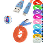 Smiley Face Flat 8 Pin to USB Charger Data Sync Cable for iPhone 5 iOS 7-1 Meter