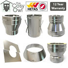 Convesa Stainless Twin Wall Multifuel Insulated Flue Pipe Accessories & Adapters