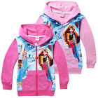 Frozen Elsa Anna Princess Casual Costume Kids Girls Zipper Hoodies Coat 2-8Years