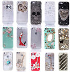3D Bling Vivid Pattern Crystal Diamond Rhinestone Back Case Cover for iPhone5 5S