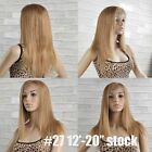 Lace Front Wig 100% remy Indian human hair wigs silky straight honey blonde #27
