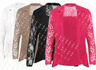 B92 NEW WOMEN LADIES FLORAL LACE LONG SLEEVE BLAZER JACKET COAT IN PLUS 08-24
