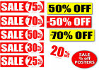 Sale Posters signage %off posters for shops 6 of your choice