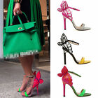 Womens Celebrity Butterfly Angle Wings Open Toe High Stilleto Heels Sandal Shoe