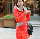 New Fashion Candy Medium Long Slim Down Jacket Winter Coat GLOVEs
