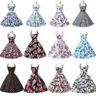 Cheap! Vintage Style Floral 1950s Rockabilly Swing Pin Up Evening Party Dress