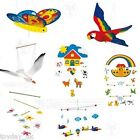 Childs Babies Wooden Mobile Bedroom Nursery Decoration Seagull Butterfly Plane